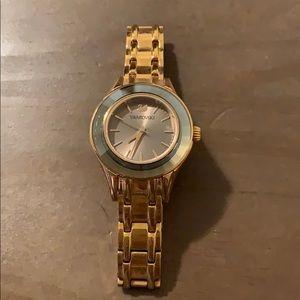 Swarovski Alegria Red Gold Watch